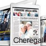 Abbonamento mensile a quotidiani e riviste omaggio di A casa con Coop