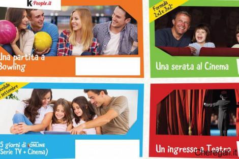 Voucher Cinema/Teatro/Bowling/Pay tv con K-People di Kinder
