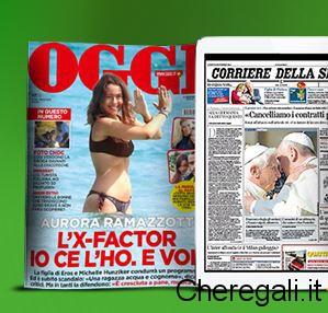 Copia Omaggio Oggi/Corriere della Sera con Formaggi Ferrari