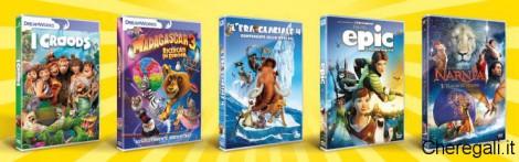Collezione 5 Dvd Film d'Animazione Omaggio da McDonald's