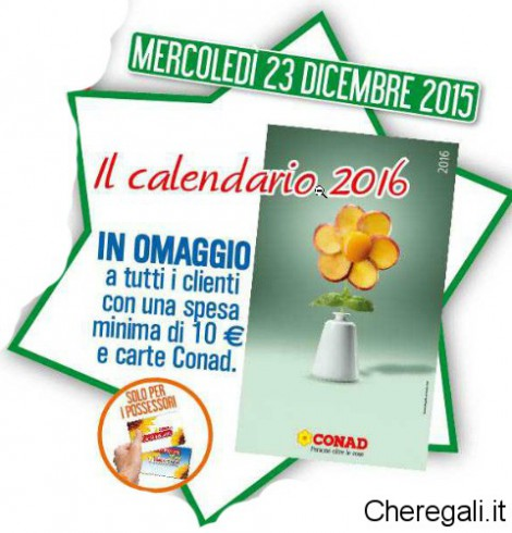 Conad City: Calendario 2016 Omaggio Sicuro