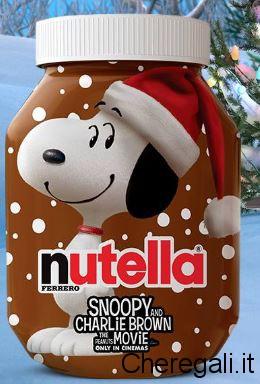 A Natale Arriva il Vasetto Nutella con Snoopy