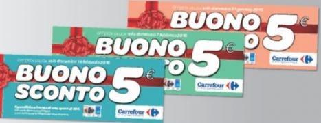 Buono Spesa Carrefour da 5 Euro