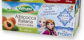 Card Frozen Disney Regalo Immediato con Valfrutta Succhi di Frutta