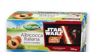 Card Star Wars Regalo con Succhi di Frutta Valfrutta