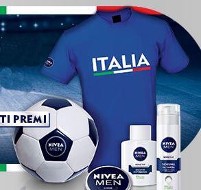 Pallone Calcio o Maglia Azzurri Premio Sicuro Nivea Men