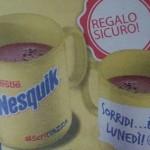 Scritta Tazza Nesquik omaggio all'Esselunga
