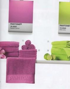 Collezione Asciugamani Pantone con Bollini Simply