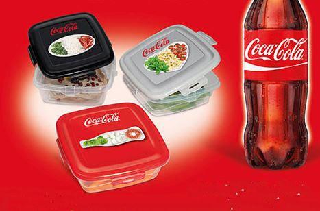 Contenitori per Alimenti Coca Cola Omaggio da Sodexo