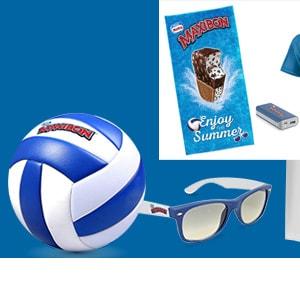 Concorso Maxibon: Palloni, Occhiali, Magliette, Teli, PowerBank