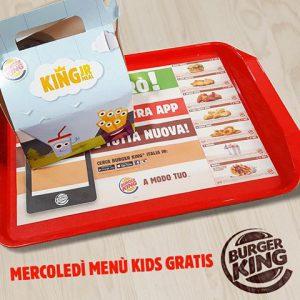 Menù Kids Omaggio il Mercoledì al Burger King