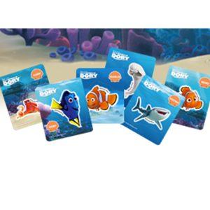Collezione Card Attacca Stacca Alla Ricerca di Dory con Merendine Kinder