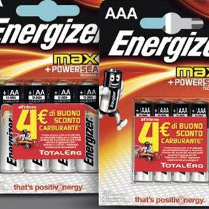 Buono Carburante TotalErg Omaggio con Batterie Energizer