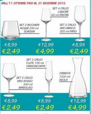Collezione Bicchieri Bohemial da Decò