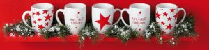Collezione tazze stelle di Natale omaggio con Vismara e Ferrarini