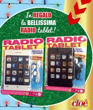 Radio Tablet omaggio con Cioè