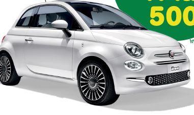 Concorso Saila vinci Macchina Fiat 500 e, in premio sicuro, buoni carburante IP