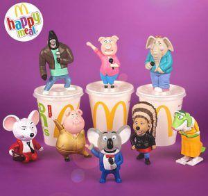 Personaggi del film Sing in regalo con Happy Meal a Gennaio 2017