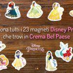 Magneti Disney Princess collezione con formaggini Crema Bel Paese
