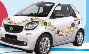 Concorso Haribo vinci macchina  Smart Cabrio