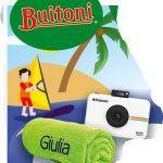 Buitoni concorso vinci telo mare e fotocamera Polaroid Snap Touch