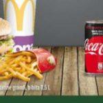 Lattina Coca Cola omaggio al McDonald's (McDrive)