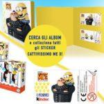 Album e sticker Cattivissimo Me con Kinder Fetta al latte e Kinder Pinguì