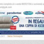 Asciugamani Gabel con Sensodyne, Paradontax, Aquafresh e Polident