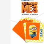 Card stacca e attacca Cattivissimo Me 3 con merendine Kinder