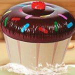 Cupcake gonfiabile regalo certo dentifricio Aquafresh