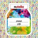 Etichette scuola omaggio con Nutella