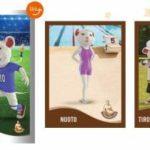 Figurine Topastri, i Topolini nello sport Parmareggio