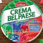 Adesivi Pj Masks omaggio con formaggini Crema Bel Paese