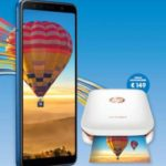 Stampante HP Sprocket in regalo con smartphone Samsung Galaxy