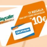 Gift Card Decathlon con Bioscalin benessere sole
