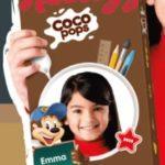 Confezione cereali Kellogg's con la foto di tuo figlio