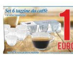 Set 6 tazzine da caffè a 1 euro all'MD Discount