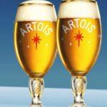 Calici omaggio con birra Stella Artois