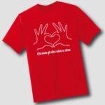 T-shirt del cuore premio sicuro con Latte Sole