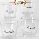 Bicchieri Mille Bolle decorati premio sicuro con prosciutto Ferrarini