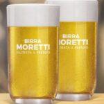 Coppia bicchieri in regalo con birra Moretti
