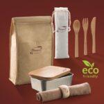 Lunch box, set posate, tovaglietta e paperlunch premi sicuri Fiorucci